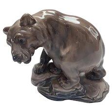 Dahl Jensen Royal Copenhagen Bear on Rock Figurine
