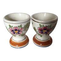 Delft Polychrome Egg Cups