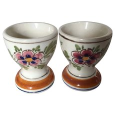 Delft Polychrome Egg Cups