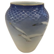 "Royal Copenhagen 5 1/4"" Vase with Seagull"