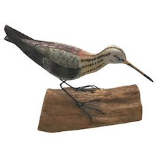 Hand Carved and Hand Painted Curlew Shore Bird signed Jonathan Jones Originals