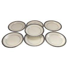 Royal Doulton set of 7 Salad/Dessert Plates  Sarabande Pattern