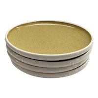 """Set of 4 Russel Wright Harkerware 6"""" Bread and Butter  Plates in the Golden Spice Color Way"""