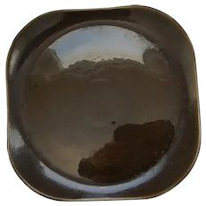 "Russel Wright 13"" Brown Square Platter by Steubenville"