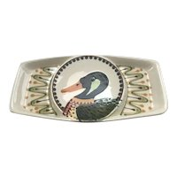 Rothwoman  Party Snack Tray with Hand Painted Mallard Duck