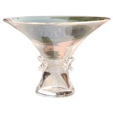 Vintage Signed Steuben Glass Crystal George Thompson Bouquet Vase