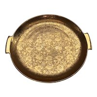 Stouffer Fine China Platter with 22k Gold Embossed Floral