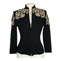 St. John Evening Jacket with Gold Embroidery by Marie Gray
