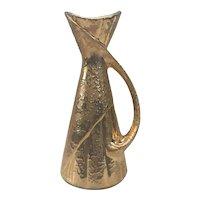 Mid Century Modern Weeping Gold Vase