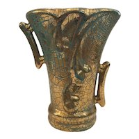 Gonder Gold Crackle Vase