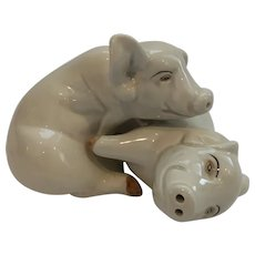 Fitz and Floyd Pig Salt and Pepper Shakers