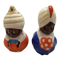 Turbaned Couple Salt and Pepper Shakers