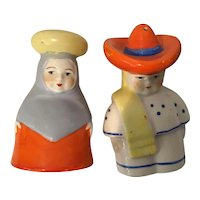 Mexican Couple Salt and Pepper Shakers