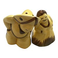 Dancing Mexican Couple in Traditional Costume Salt and Pepper Shakers