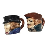 Men's Heads Salt and Pepper Shakers
