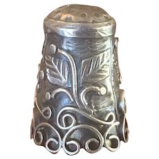 Ornate Sterling made in Mexico Thimble