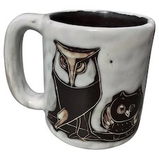 Mara Pottery Owl Mug