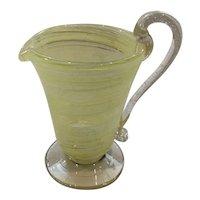 Venetian Glass Creamer Made in Murano Italy