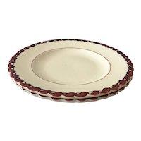 Set of 2 Vernon Kilns Monterey Pattern Salad Plates
