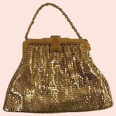 Whiting and Davis Gold Mesh Bag