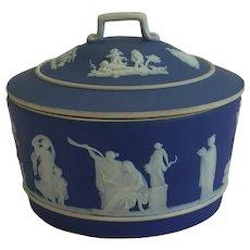 Antique Wedgwood Jasper ware Trinket Box 1868