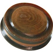 Large Vintage Chunky Layered Imitation Wood Button