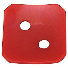 Very Large Cherry Red Bakelite Button