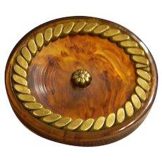 Large Vintage Imitation Tortoise-Rootbeer Bakelite Button
