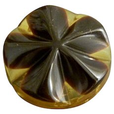 Vintage Round Laminate Bakelite Button