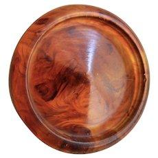 Large Vintage Imitation Tortoise Shell-Rootbeer-Bakelite Button