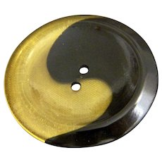 Large Vintage Ying Yang Style Bakelite Button