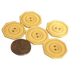 Vintage Creamed Corn Bakelite Buttons
