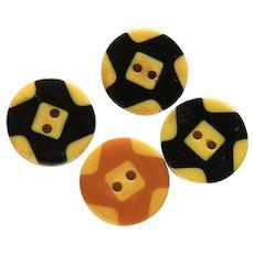SALE! Four Vintage Bakelite Pinwheel Cookie Buttons