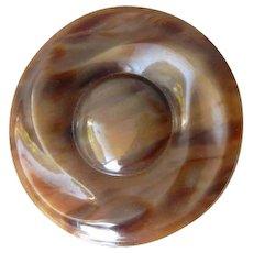 Vintage Casein Button Imitating Horn