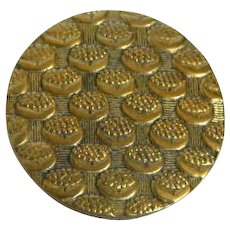 Vintage French Tight Brass Button with Wallpaper Design-Medium size