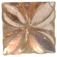 Vintage 1930's Pink Depression Glass Button