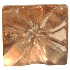 Small Vintage Pink Depression Glass Button