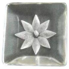 Large Vintage Clear Lucite Button
