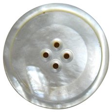 Very Large Vintage Mother of Pearl Button
