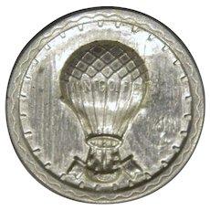 Vintage Steiff Pewter Montgolfier Balloon Button
