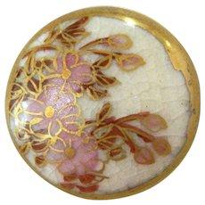 Small Vintage Satsuma Button