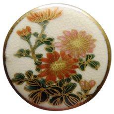 Vintage Satsuma Flower Button