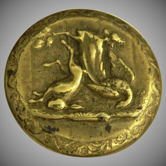 Antique Sporting Game Button