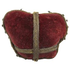 Amusing Red Velvet Crown Pin Cushion