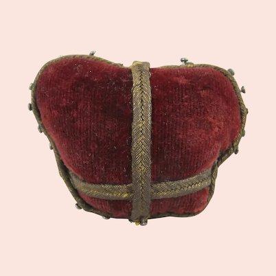 Amusing Red Velvet Crown Pin Cushion