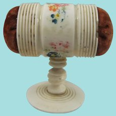 Double Ended Painted Bone Pin Cushion/Emery