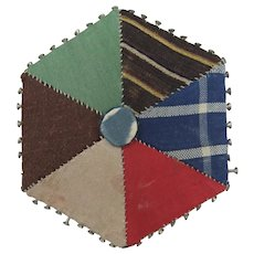 Victorian Patchwork Hexagonal Pin Retainer/Cushion