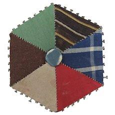 Victorian Patchwork Hexagonal Pin Retainer/Cushion