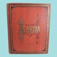 Circa 1911 Scrap Album Filled With Die-cuts, Cards, Cigarette Silks Etc