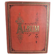 Circa 1911 Scrap Album Filled With Die-cuts, Cards, Cigarette Silks Etc